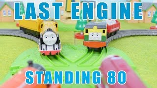 Last ENGINE Standing 80: THOMAS AND FRIENDS Toy Trains Video For Children