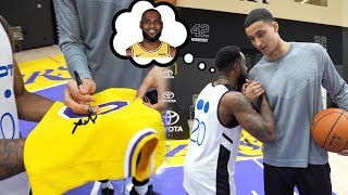 """""""BRO WHERE IS LEBRON?"""" KYLE KUZMA SIGNED MY LAKERS JERSEY IN PRACTICE!"""