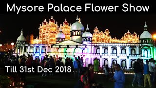 Mysore Palace Flower Show || Winter Festival: Flower Show at Mysore Palace