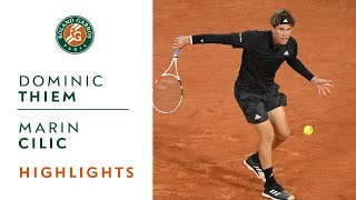 Dominic Thiem vs Marin Cilic - Round 1 Highlights I Roland-Garros 2020