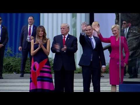Polish first lady passes over Trump's handshake