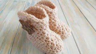 (crochet) How To - Crochet Cowboy Baby Boots - Yarn Scrap Friday