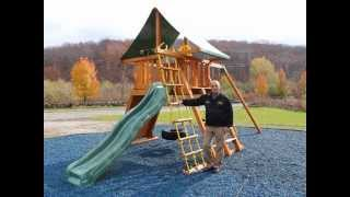 Spotlight on the Supreme Wood Swing Set (video for mobile devices)
