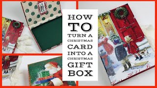 🎄Use DOLLAR TREE Greeting Cards To Make CHRISTMAS GIFT BOXES🎄[Great For Those Secret Santa Gifts]