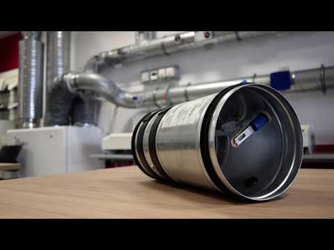 Prezentacja okrągłej klapy przeciwpożarowej Lindab WH25 - zdjęcie