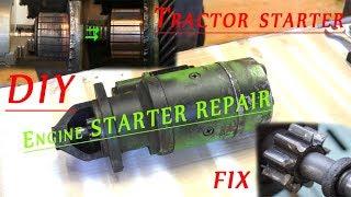 Engine [tractor] Starter Repair   Diy Fix