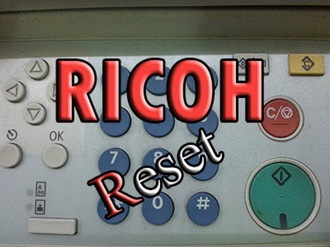 How to reset Ricoh aficio 2026, 2018, 2020 error code sc542