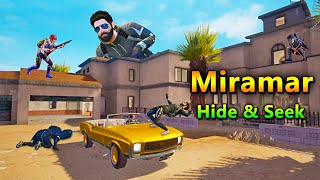PUBG Hide and Seek in Miramar with Golden Mirado  | PUBG Mobile Funny Gameplay | Bollywood Gaming