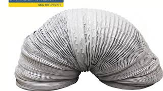 "Flexible Duct - Nylon Fabric – 24"" Diameter – 10 M Length"
