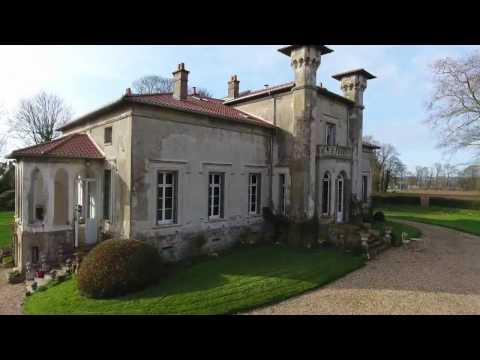 Château de style renaissance italienne Manoir de charme à vendre Dieppe Côte d'Albâtre en Normandie