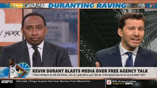 """Stephen A. Smith GRIEVANCES """"Kevin Durant lashes at media amid Knicks rumors   First Take"""