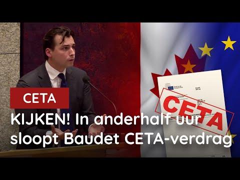 Legendarische speech! Baudet sloopt CETA in anderhalf uur!