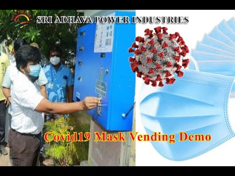 Mask vending machine for public place