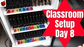 Classroom Setup Day 8 and Classroom Tour High School Teacher Vlog