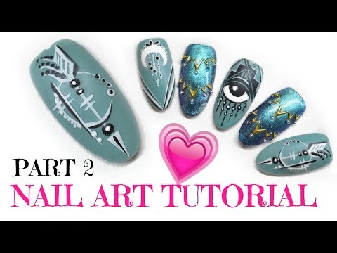 TUTORIAL   NAIL ART PART 2    HOW TO USE THE CELINA SIGNATURE NAIL ART BRUSHES