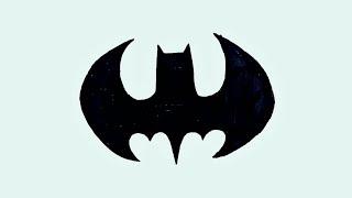 BATMAN Logo Design Drawing!! How To Draw Batman Logo As Tattoo