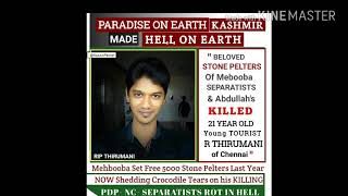 Thirumani 22yr old Chennai guy was killed @Kashmir | Stone pelting Incident | Justice for Thirumani