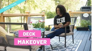 Gorgeous DIY Deck Makeover On A Budget | Outdoor Decorating Ideas | Dramatic Before And After