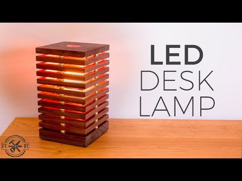 DIY Desk Lamp with Color Changing LED Light
