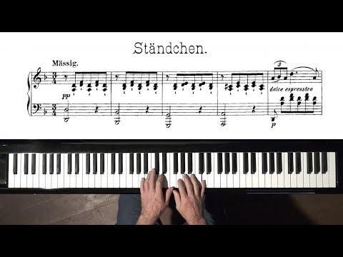 "Schubert ""Ständchen"" (Serenade) FREE Sheet Music - P. Barton FEURICH piano"