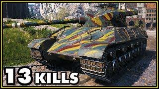 Somua SM - 13 Kills - 1 vs 7 - World of Tanks Gameplay
