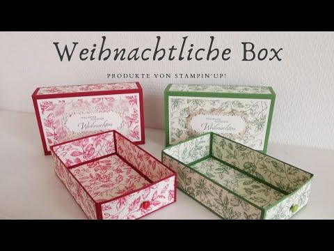 96. Video/ Weihnachtliche Schubladenbox   Mit Produkten von Stampin' Up!