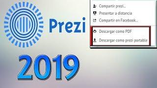 CÓMO DESCARGAR CUALQUIER PRESENTACIÓN DE PREZI CLASSIC (2019) | Versión Portable + PDF