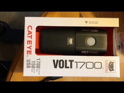 Cateye Volt 1700 Lumen Front Light - Unboxing