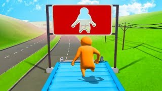 SURVIVE THE IMPOSSIBLE MOVING PLATFORM! - Gang Beasts
