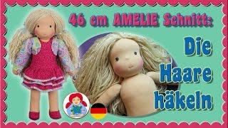 DIY   Puppenhaare häkeln   Puppenperücke für Sami Schnitt AMELIE • Sami Doll Tutorials