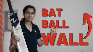 Best cricket practice at home (Improve your batting ALONE!)