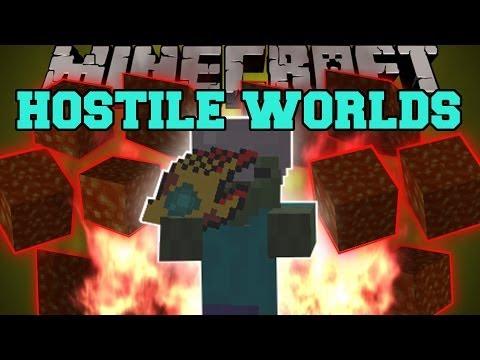 Minecraft: HOSTILE WORLDS MOD (METEORS, EVIL DIMENSION, EPIC PARTICLE EFFECTS!) Mod Showcase