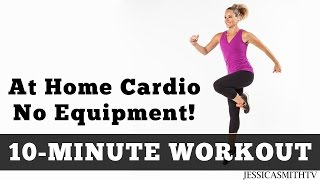 The Best 10 Minute At Home Cardio Workout No Equipment! by jessicasmithtv