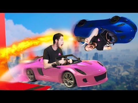 Hilarious Rocket Car Stunt Racing! | GTA5