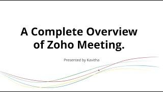 Zoho Meeting-video