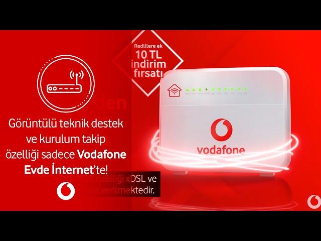 Görüntülü teknik destek ve kurulum takip özelliği sadece Vodafone Evde İnternet'te!