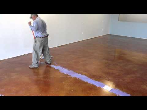 Waxing or Floor Finishing Stained Concrete Houston
