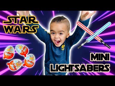 Star Wars Mini Lightsaber Discovery Lab and Kinder Joy Star Wars 2019