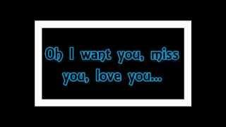 "Jon Secada ""Want You, Miss You, Love You"""