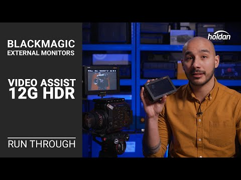 Video Assist 12G HDR Monitor Overview with Menu Run Through | Record DCI 4K60FPS in Blackmagic RAW!