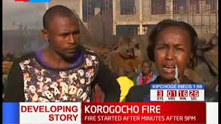 22 families left homeless in Korogocho as fire razes through their property