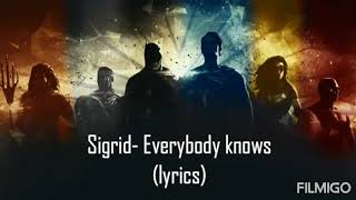 Sigrid   Everybody Knows (lyrics)