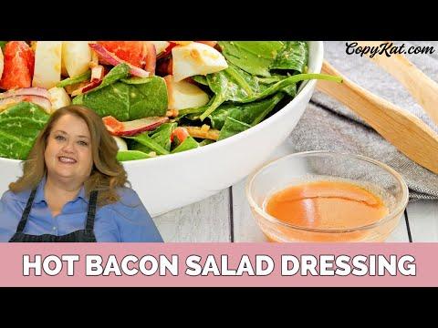 Hot bacon salad dressing - spinach salad