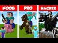 Minecraft NOOB vs PRO vs HACKER STATUE
