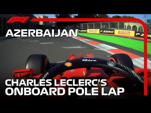 ルクレールのポールポジションオンボード映像 F1 アゼルバイジャンGP