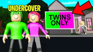 Mom Adopted TWINS ONLY.. So We Went UNDERCOVER! (Roblox)