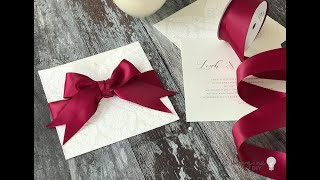 Make Your Own Wedding Invitations - DIY Wedding Invitations with Bow