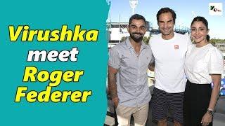 Watch: Virat Kohli, Anushka Sharma spend time with legendary Roger Federer at the Australian Open
