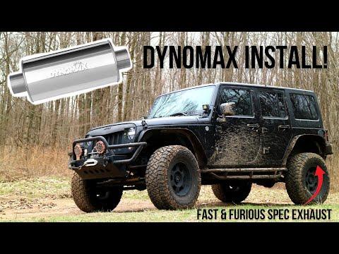 The Wrangler Gets A Dynomax Exhaust For More Bark And Bite! (Muffler Delete VS Dynomax)