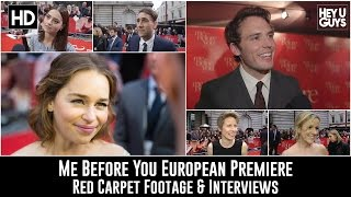 Me Before You European Premiere Red Carpet Footage & Interviews